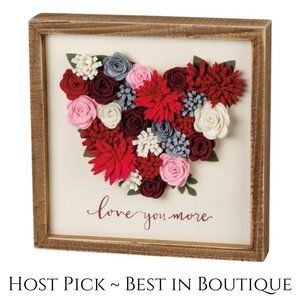 Wood Box Sign Wall Decor Love You More